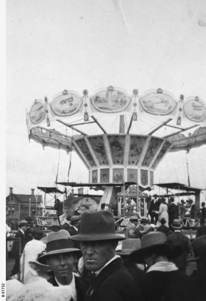 A decorated merry-go-round