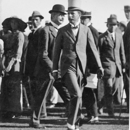 Lord Denman, Governor General of Australia leaving an airfield