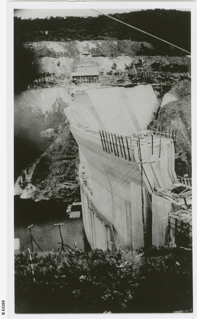 Construction of Mount Bold reservoir