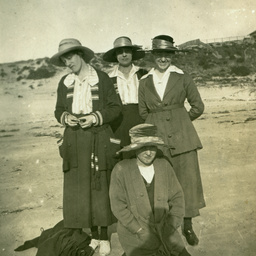 Library staff at the beach
