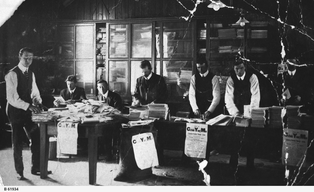 Workers at the Catholic Young Men's Paper