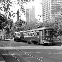 Tram in Victoria Square Adelaide