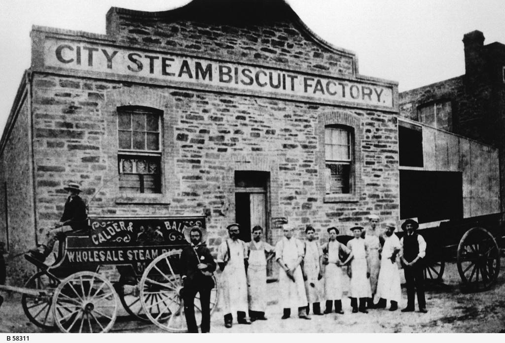 Premises of Calder & Balfour's City Steam Biscuit Factory, Adelaide