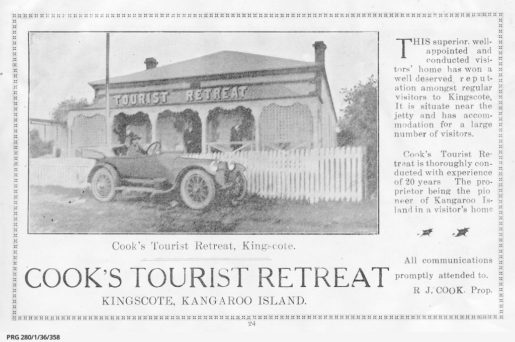 Tourist accommodation on Kangaroo Island