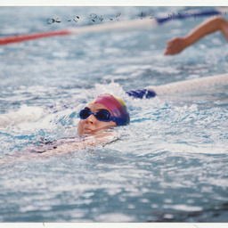 Photographs relating to swimming and water sports