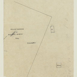 [Tracing showing sections on eastern boundary of Mount Barker Mineral Survey] [cartographic material]