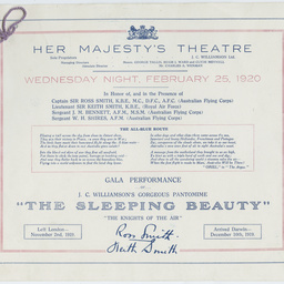Programme of a gala performance of 'The Sleeping Beauty'.