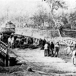 Early view of Hopwoods Ferry at Echuca