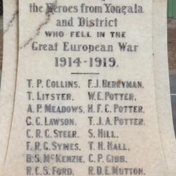 War Memorial, Yongala