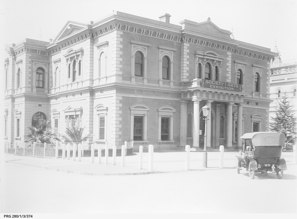 Premises of the South Australian Institute when it housed the Adelaide Circulating Library