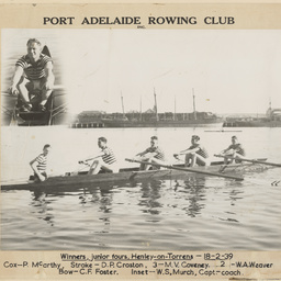 Junior Fours rowing crew, Port Adelaide Rowing Club