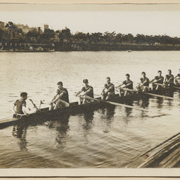 Unidentified rowing crew