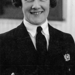 Australian National Airways hostess, Rita Grueber