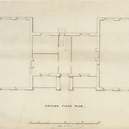 Architectural ground floor plan of building for the South Australian School Society