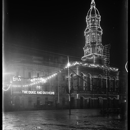 Town Hall illluminated for the visit of the Duke of York