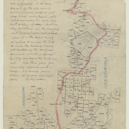 [Tracing showing special survey eastward of Mount Lofty to survey south of Black Hill] [cartographic material]