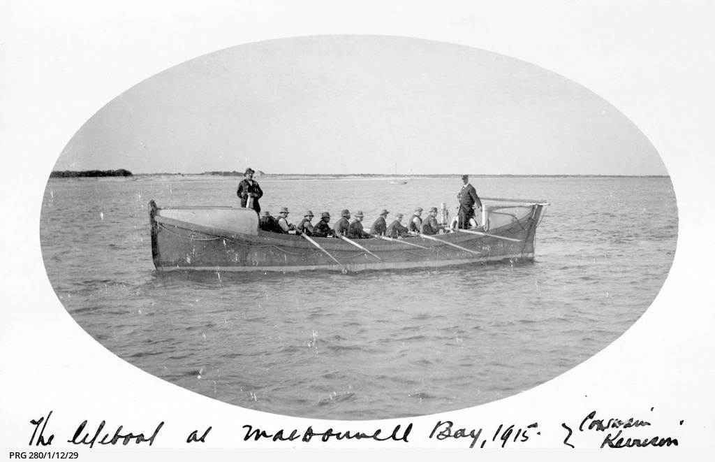 Lifeboat at sea, MacDonnell Bay, South Australia