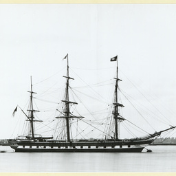 The 'Anglesey' moored at Gravesend, U.K.