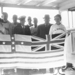 P.S. Marion with V.I.P.'s showing River Murray Flag