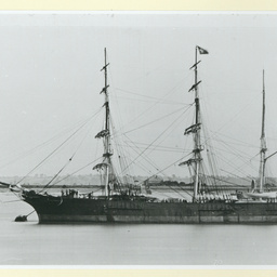 The 'Alexandrina' moored in an unidentified port