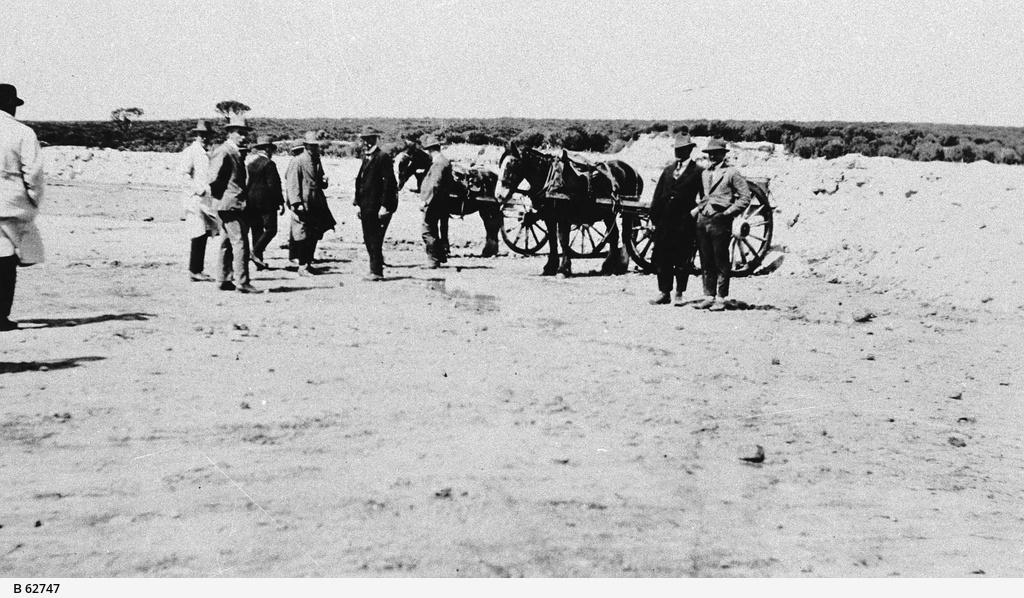 Visitors to the Waratah Gypsum workings