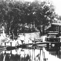 Echuca Wharf showing the 'Dock' area