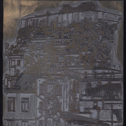 'View of Acropolis from Hotel Window' printing plate