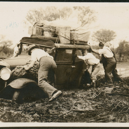 Bogged car at Bulgannia Station
