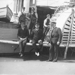 Arthur Searcy on the paddle steamer 'Dispatch'