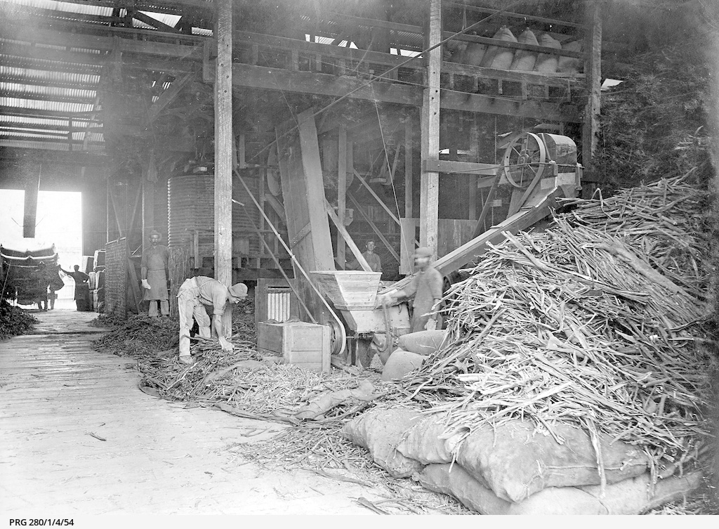 The interior of the Reid Brothers bark mill at Hindmarsh