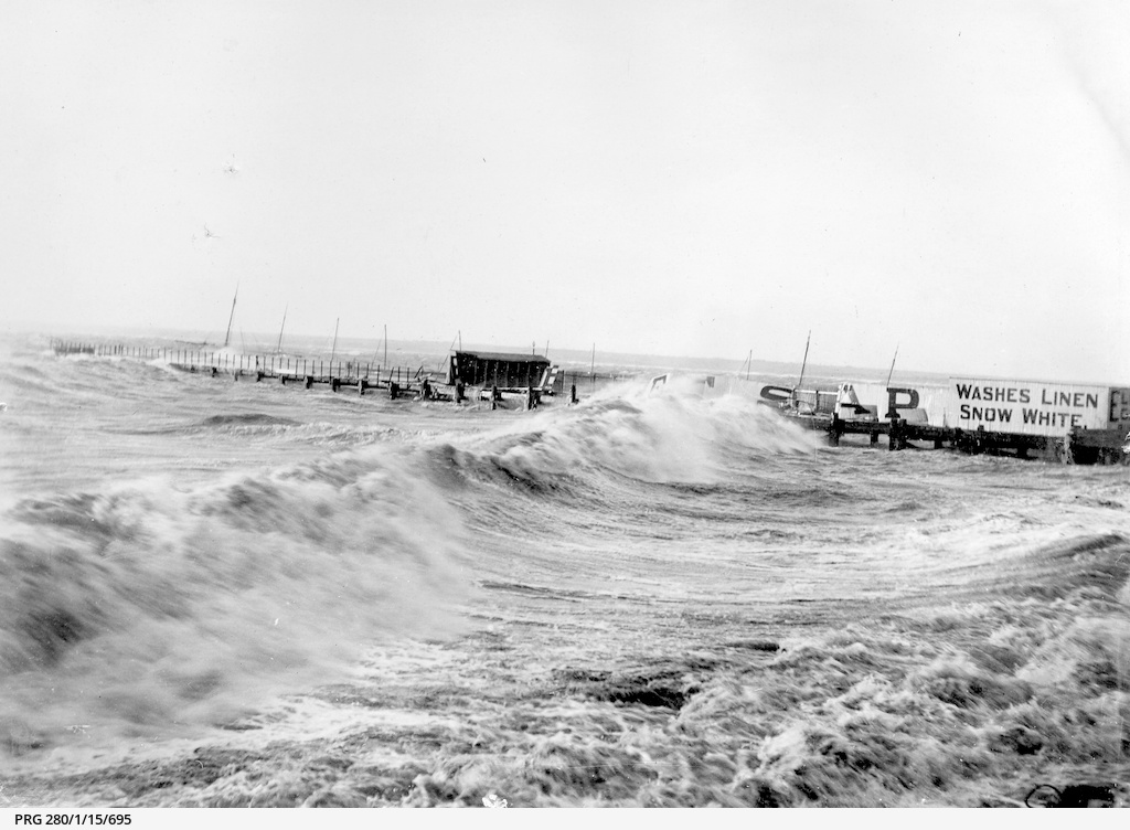 Stormy seas battering sea baths at Wallaroo, South Australia