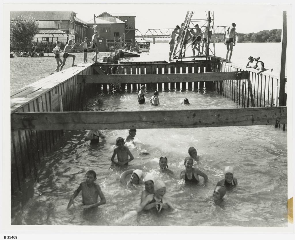 Swimming at Murray Bridge