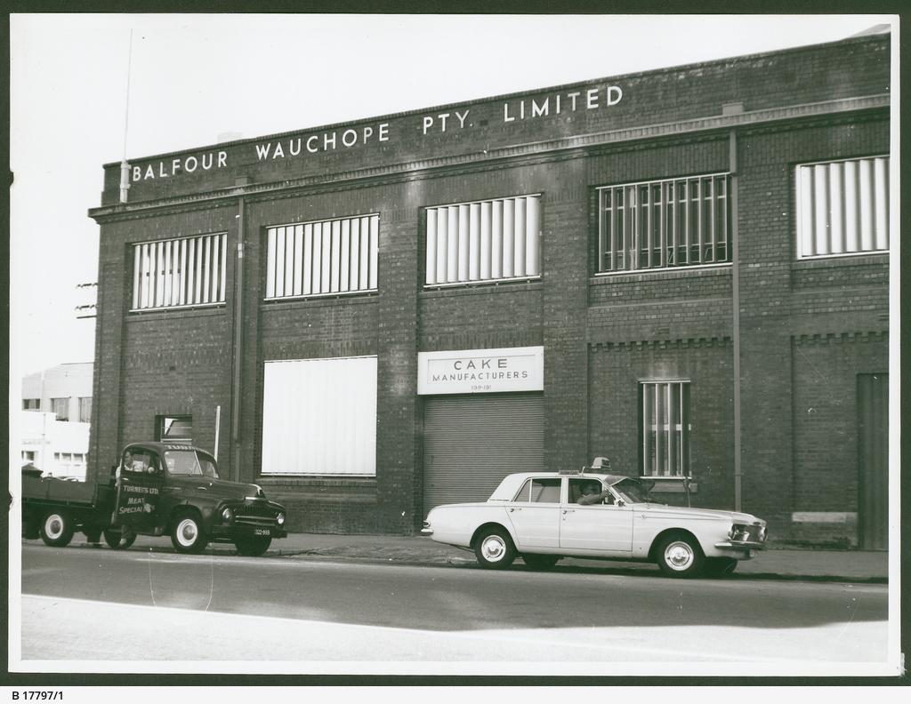Balfour's bakery, Franklin Street, Adelaide