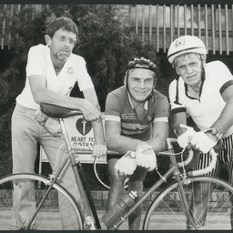 Left to right, Anthony Marsa (Driver), Roy Ward and Carl Lipman from Traralgon, Victoria. 4th April 1990.
