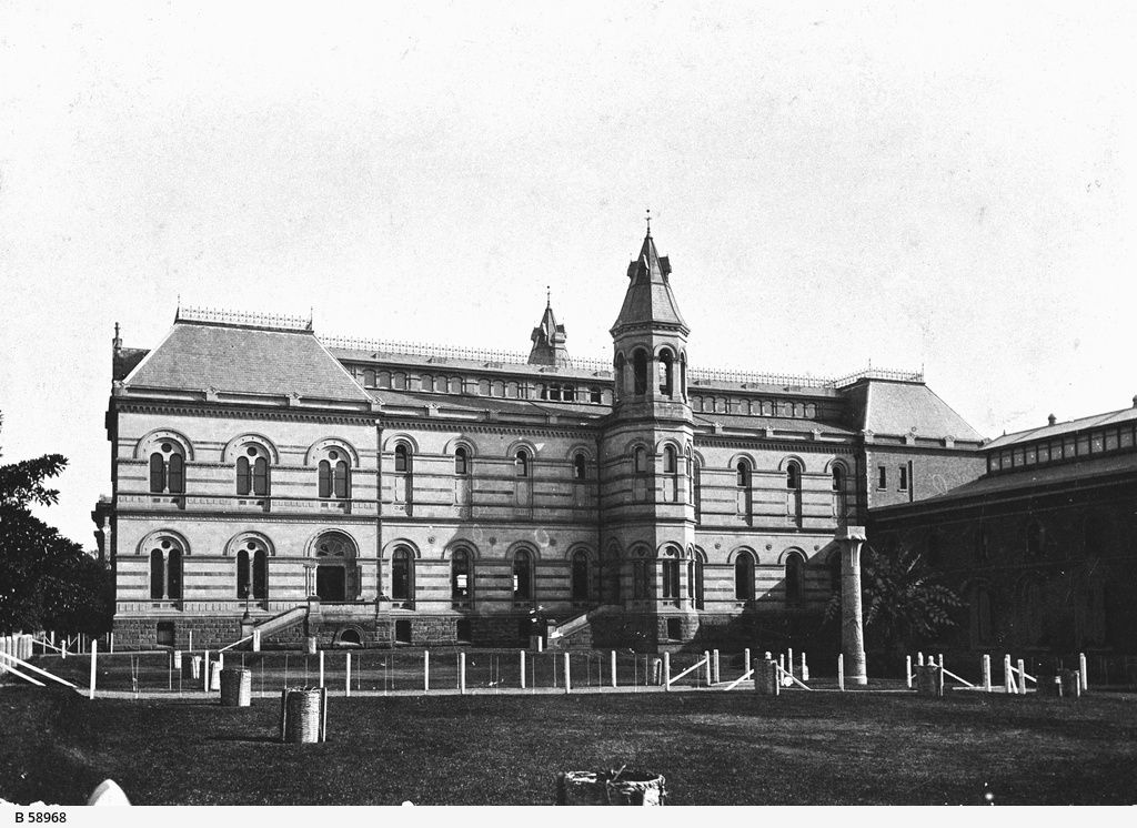 Early view of the Jervois Wing of the State Library of South Australia