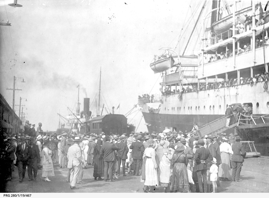Passenger ship 'Megantic' at Outer Harbor, South Australia