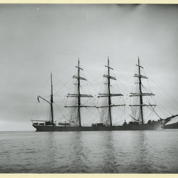 The 'Austrasia' in an unidentified harbour