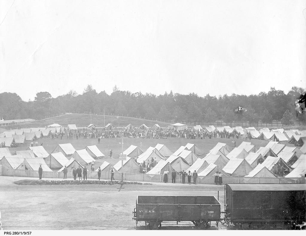 Influenza isolation camp