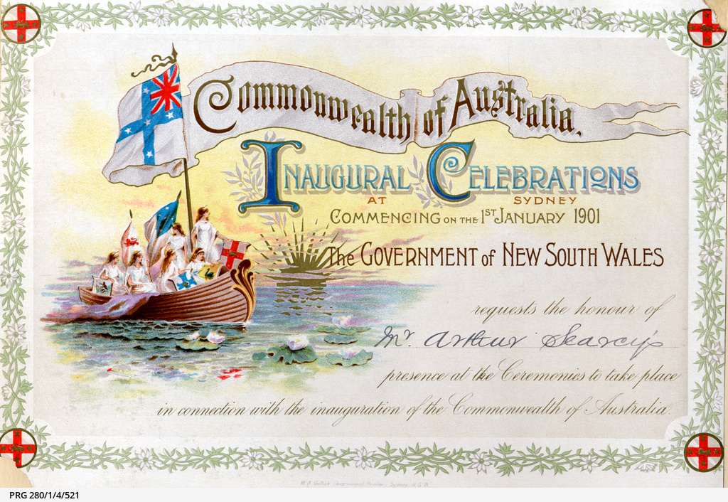 Invitation to the inauguration of the Commonwealth of Australia •  Photograph • State Library of South Australia