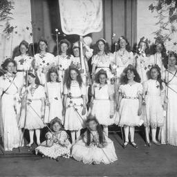 Groups of children in costume