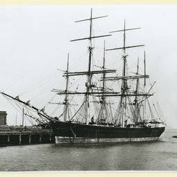 The 'Strathnairn' docked in an unidentified port