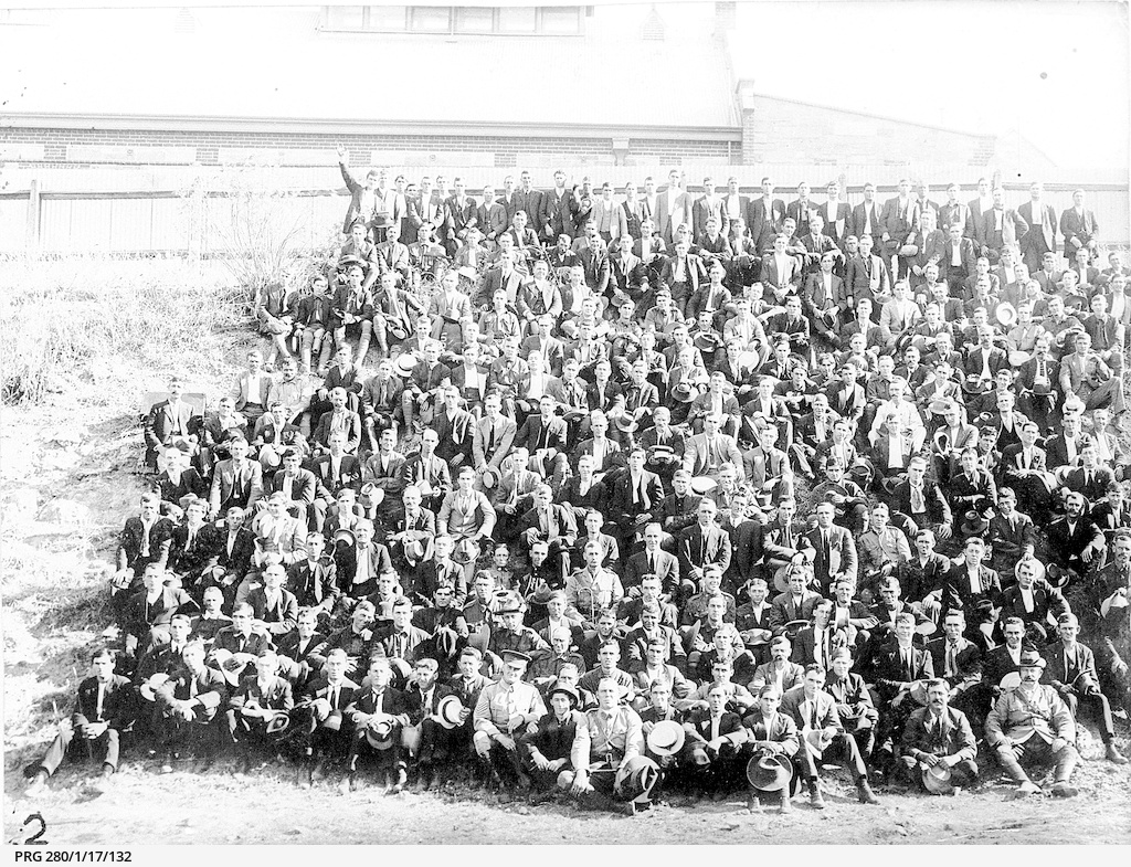 A large group of South Australian army recruits