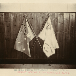 Sunday School and Commonwealth flags