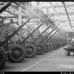 A.75 Anti Aircraft guns and mountings at Beverley Plant