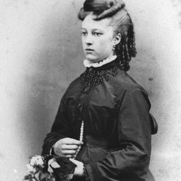 Studio portrait of a young woman