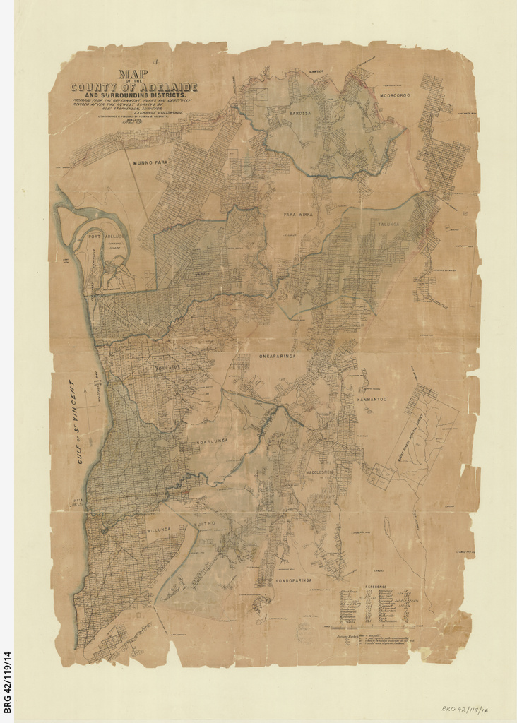 County of Adelaide and surrounding districts [cartographic material] / by Robert Stephenson