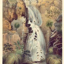 Lower falls of Glen Stuart