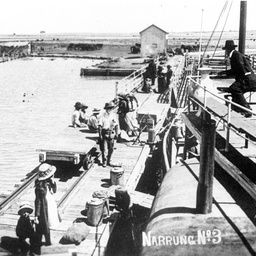 The store at Narrung during 1917 flood