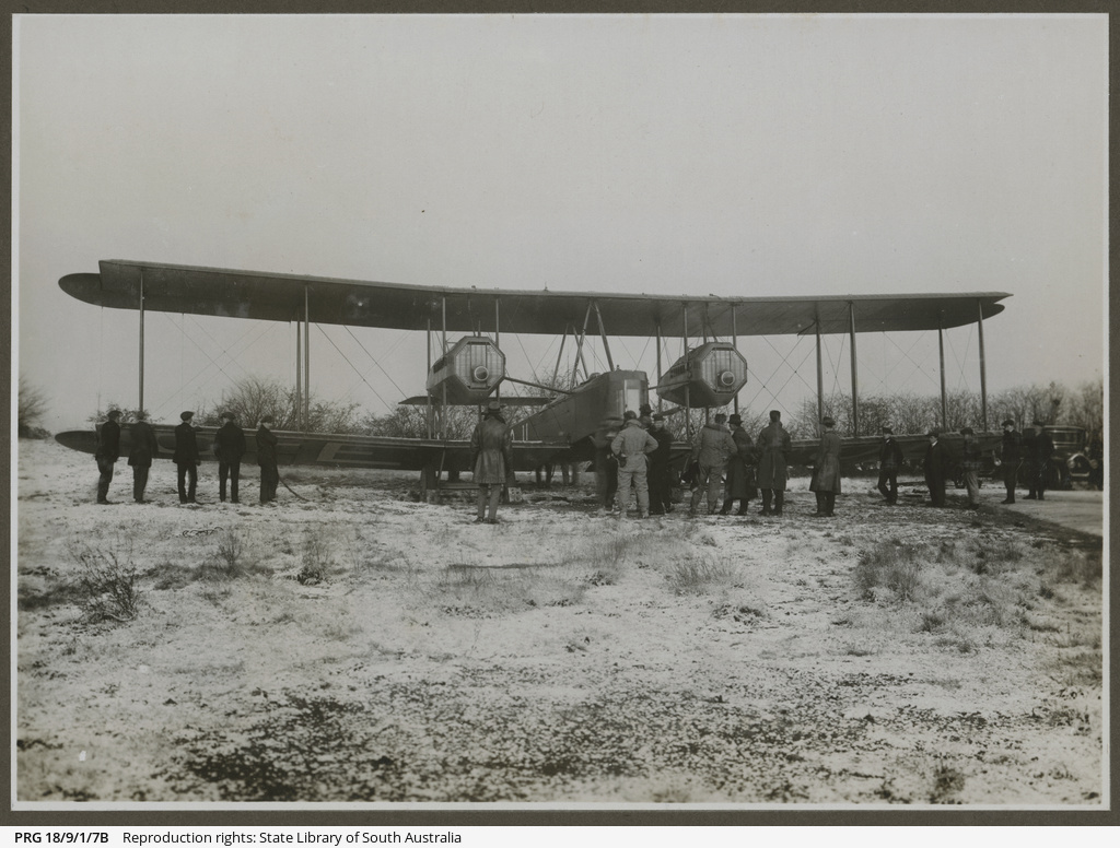 Vickers Vimy in the snow.