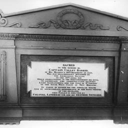 Memorial for Captain Collet Barker